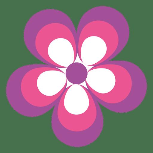 Pink Purple Flower Icon