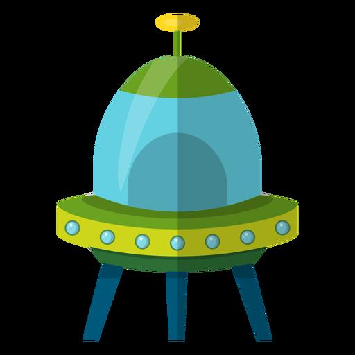 Flying Saucer Kids Illustration