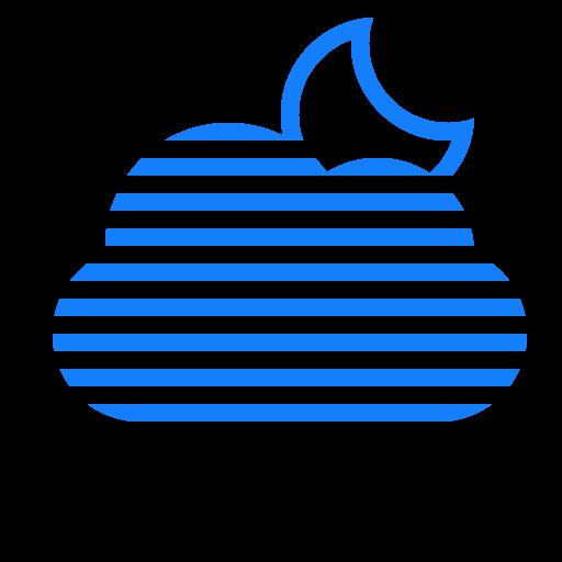 Cloud, Moon, Fog Icon
