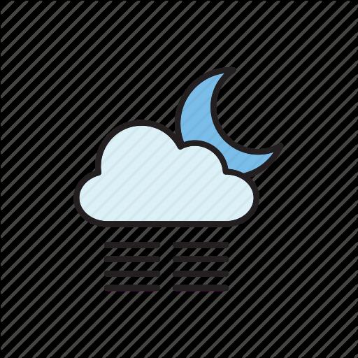 Cloud, Fog, Forecast, Meteorology, Mist, Moon, Weather Icon