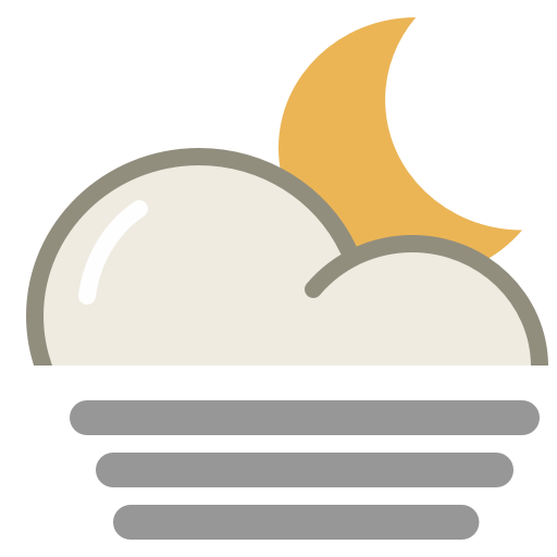 Fog Night Icon Lovely Weather Part Iconset Custom Icon Design