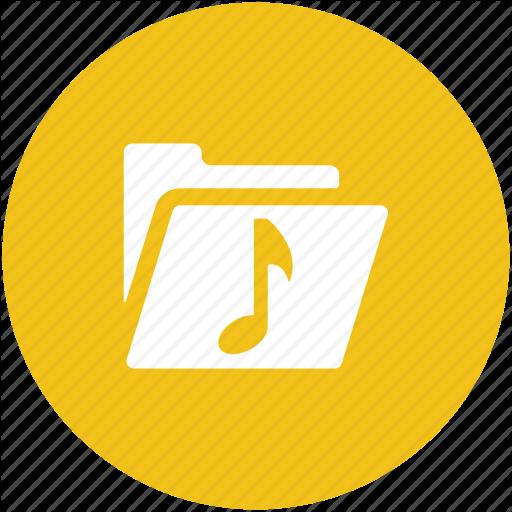 Folder, Music Collection, Music Folder, Music Pack, Songs Folder Icon