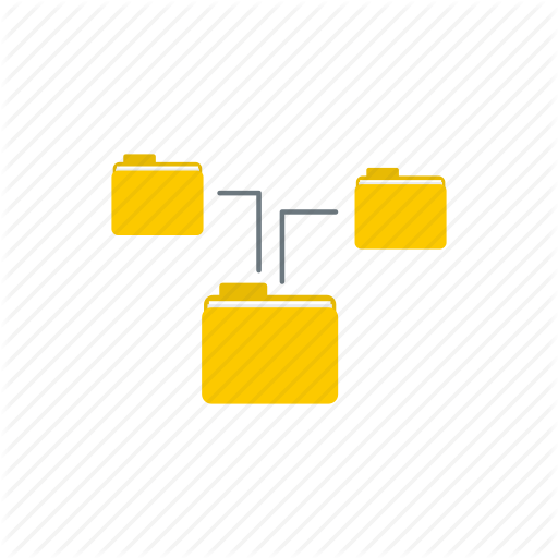 Connection, File, Folder, Icon Vector, Office, Storage, Structure Icon