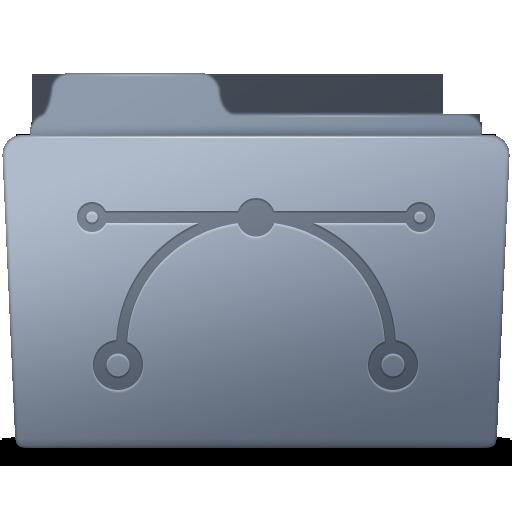 Vector Folder Graphite Icon Smooth Leopard Iconset Mcdo Design