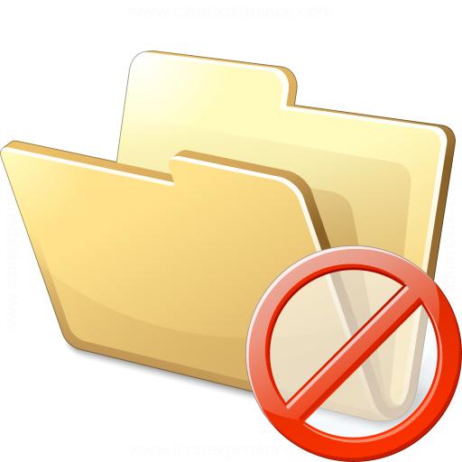 Iconexperience V Collection Folder Forbidden Icon
