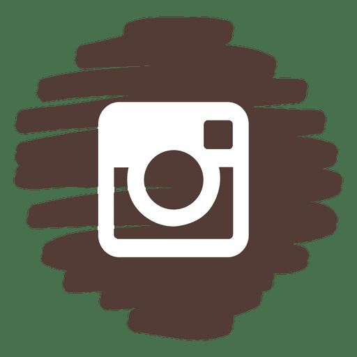 Instagram Distorted Round Icon