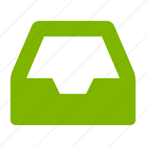 Simple Green Bootstrap Font Awesome Inbox Icon