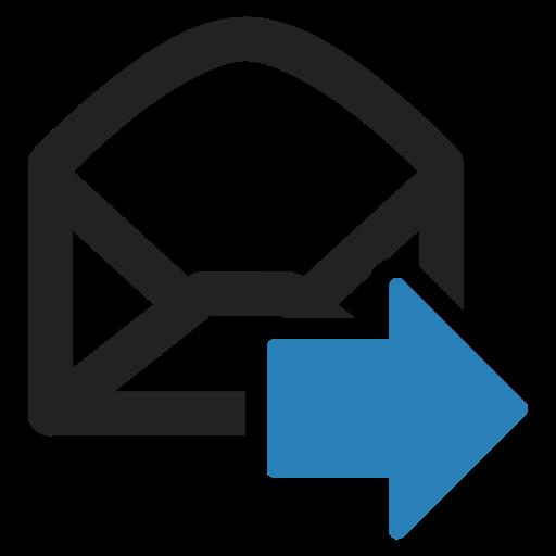 Envelope Glyph Black Icon
