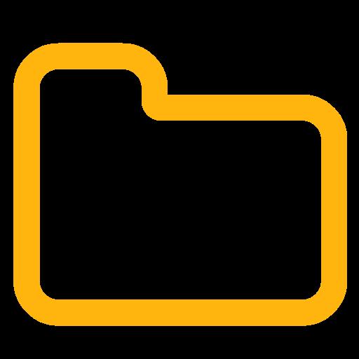 Folder Close Alt Font Awesome Yellow