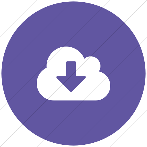 Flat Circle White On Purple Bootstrap Font Awesome