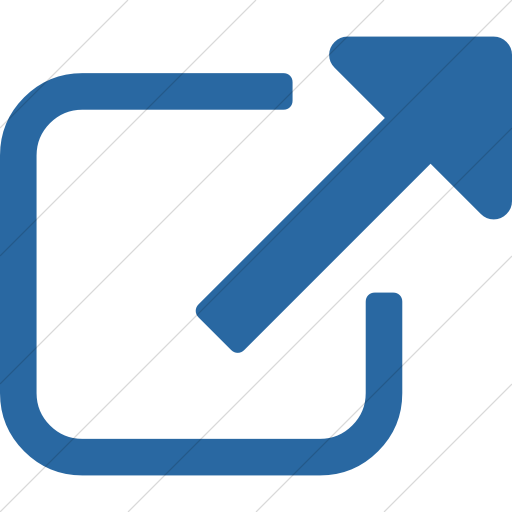 Simple Blue Bootstrap Font Awesome External Link Icon