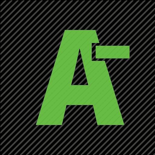 Font, Font Size, Minimize, Reduce, Size Icon