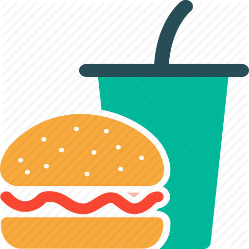 Beverage, Breakfast, Burger, Drink, Drink And Burger, Food Icon
