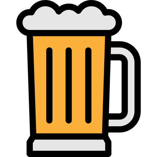 Food, Alcoholic Drink, Pint Icon