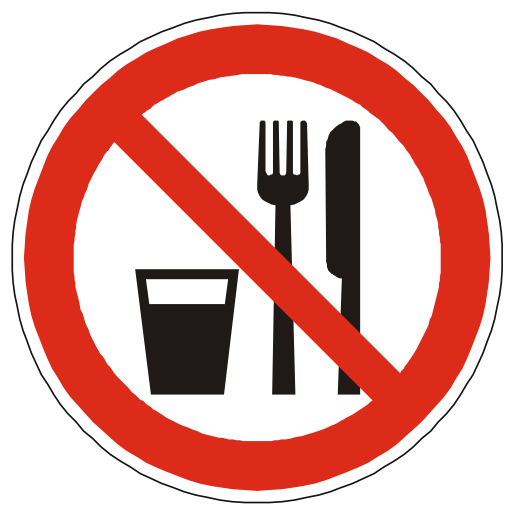 Free Icons No Food Or Drink Sign Image