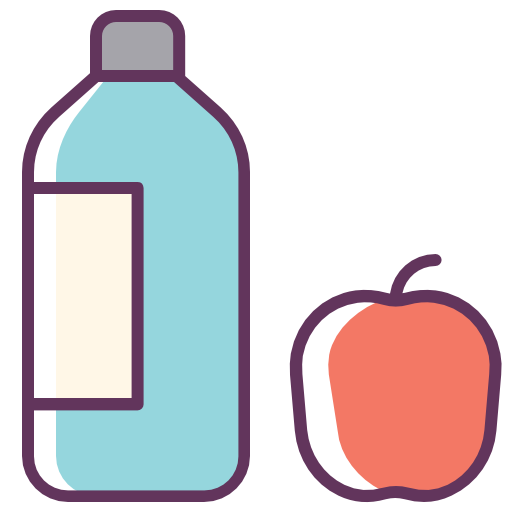 Water, Apple, Food, Drink, Fruit Icon Free Of Line Color Mix