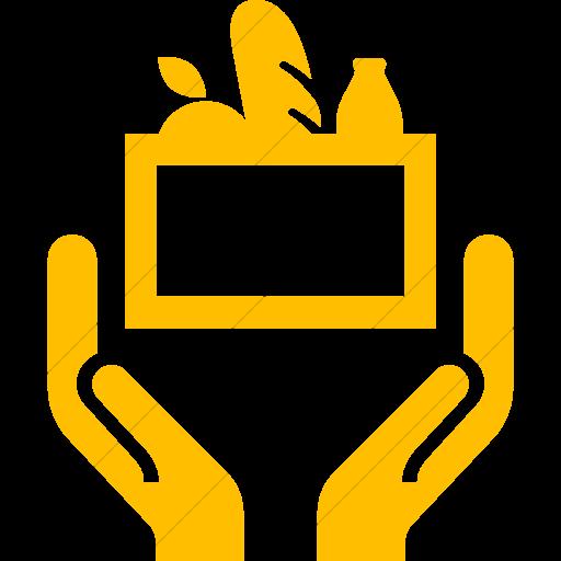 Simple Yellow Iconathon Food Bank Icon