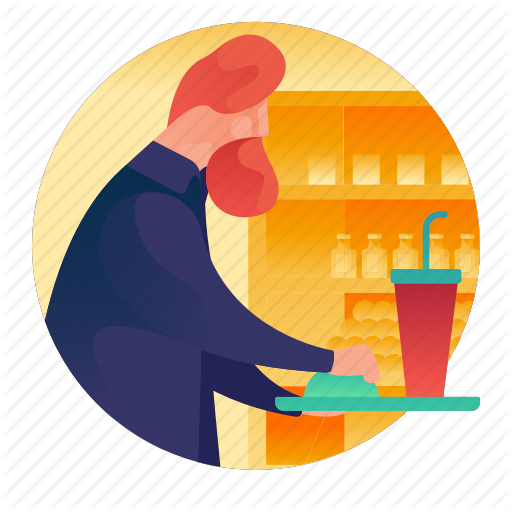 Court, Food, Man, People, Shopping, Tray Icon