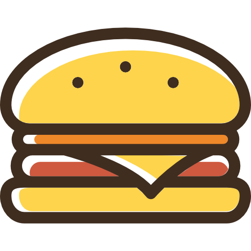 Burger, Food, Hamburger, Sandwich, Fast Food, Junk Food Icon