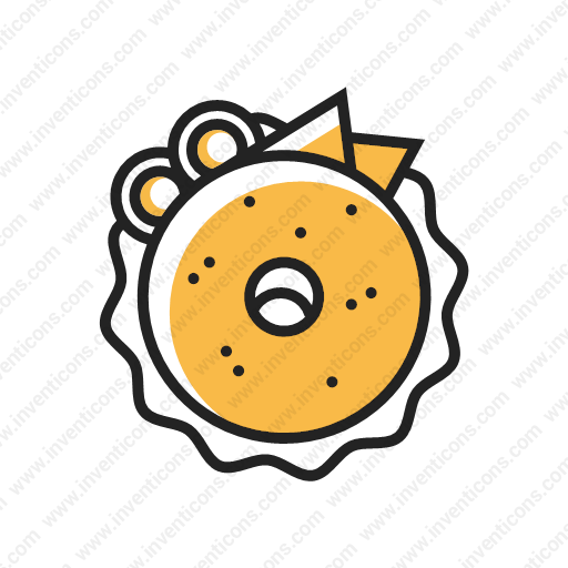 Download Bagel,dount,bun,food Icon Inventicons