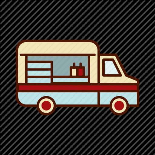 Burger, Food, Truck, Van Icon