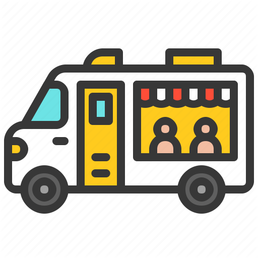 Commerce, Fast Food, Food, Shop, Transport, Truck Icon
