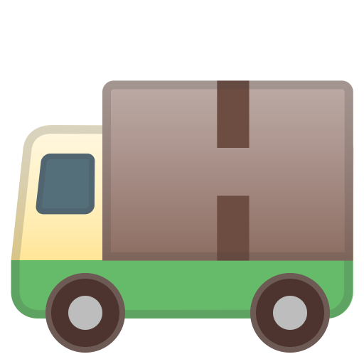 Delivery Truck Icon Noto Emoji Travel Places Iconset Google