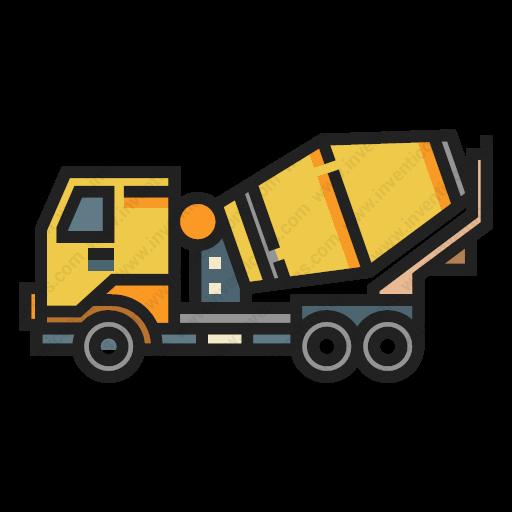 Download Concrete,mixer,truck Icon Inventicons