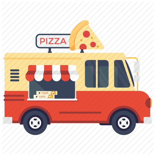 Fast Food Van, Pizza Delivery Van, Pizza Food Truck, Pizza Slice