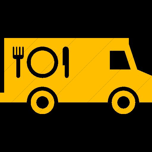 Simple Yellow Iconathon Food Truck Icon