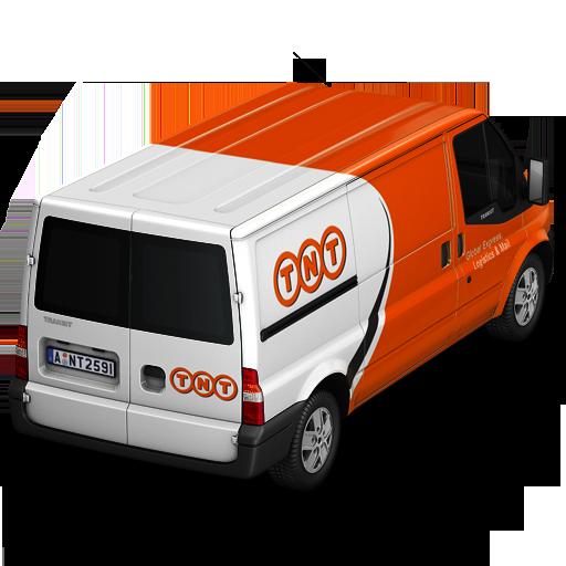 Tnt Van Back Icon Container Cargo Vans Iconset Antrepo