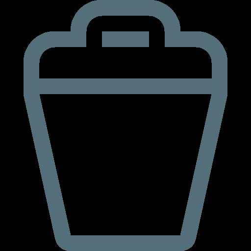 Trash, Waste, Dustbin, Trashcan, Rubbish, Bin, Garbage Icon