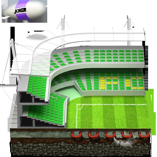 Soccer Football Stadium Icon Sports Iconset Joker Design