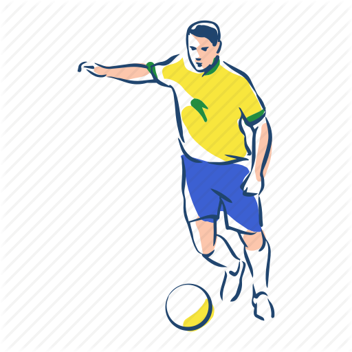 Ball, Brazil, Football, Footballer, Player, Soccer, Sport Icon