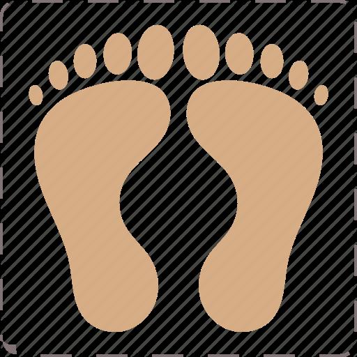 Feet, Foot, Footprint Icon