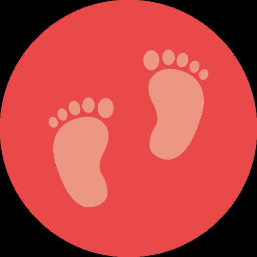 Foot, Footprint, Baby, Footprints, Barefoot, Kid And Baby Icon