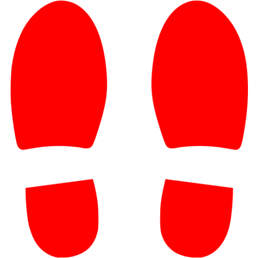 Red Foot Steps