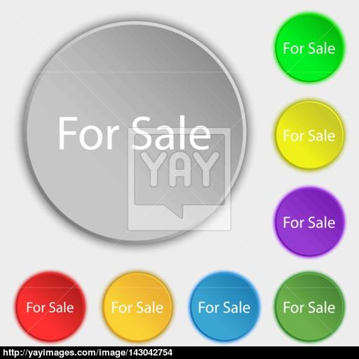 For Sale Sign Icon Real Estate Selling Symbols On Eight Flat