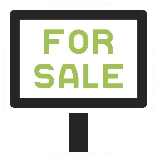 Signboard For Sale Icon Iconexperience