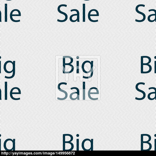 Big Sale Sign Icon Special Offer Symbol Seamless Abstract