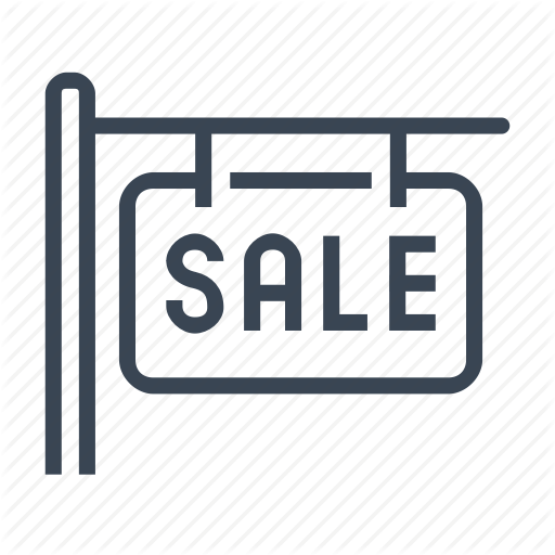 For, Home, House, Real Estate, Sale, Sign Icon