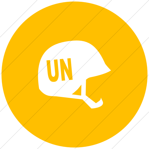 Flat Circle White On Yellow Ocha Humanitarians People