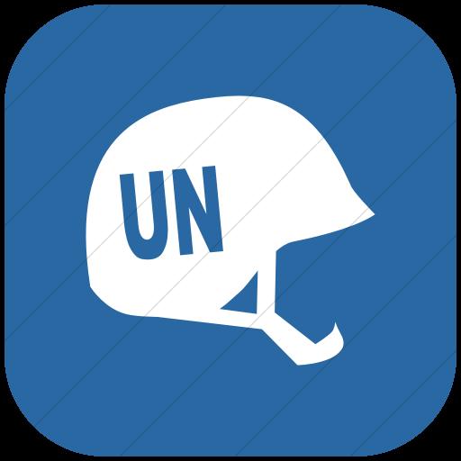 Flat Rounded Square White On Blue Ocha Humanitarians