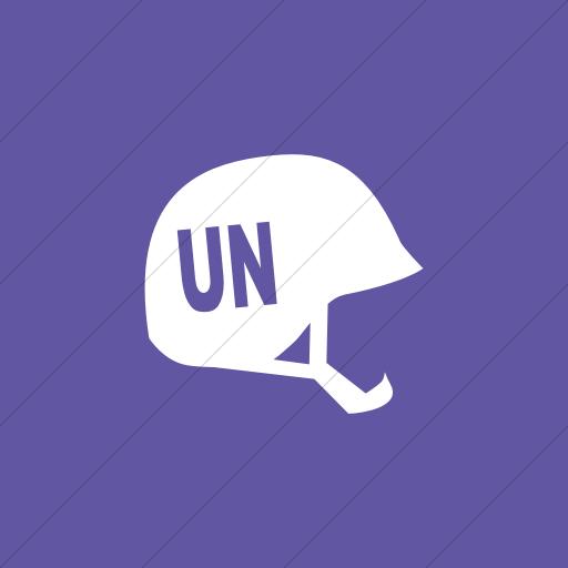 Flat Square White On Purple Ocha Humanitarians People