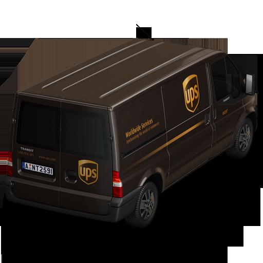 Ups Van Back Icon Container Cargo Vans Iconset Antrepo