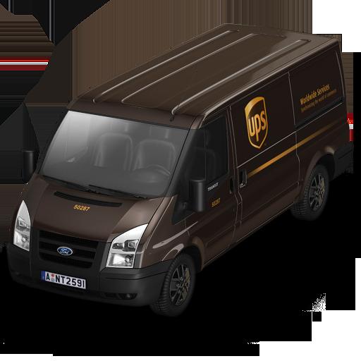 Ups Van Front Icon Container Cargo Vans Iconset Antrepo