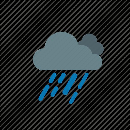 Drizzle, Forecast, Heavy, Rain, Weather Icon