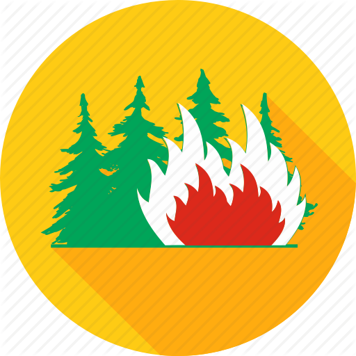 Burn, Burning Forest, Danger, Fire, Flame, Forest, Tree Icon