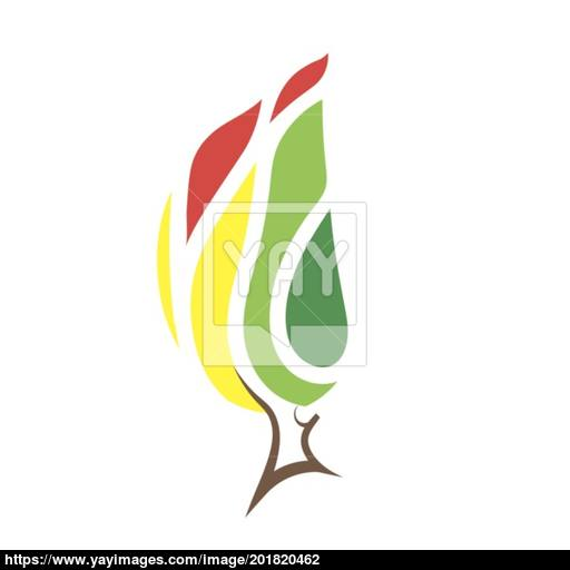 Burning Forest Icon Vector
