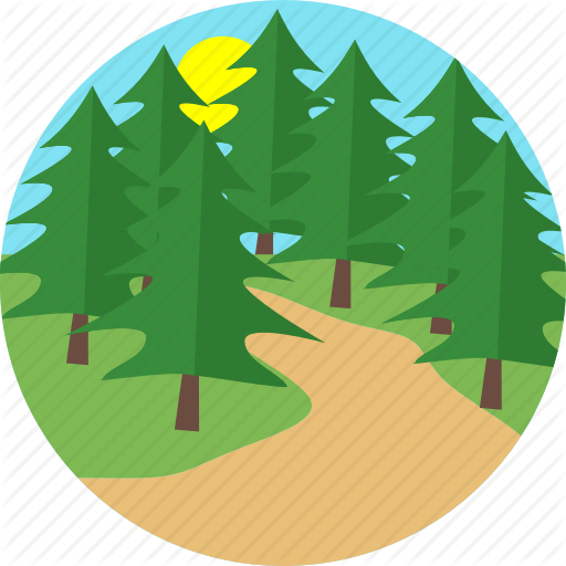 Forest, Mud Road, Road, Street, Sunset, Tree, Trees Icon